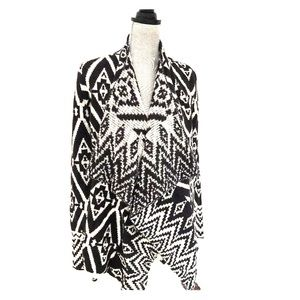 KNOX ROSE black/white bell sleeve XS